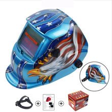 цены Welding helmet Eagle Solar Auto Darkening MIG MMA Electric Welding Mask/Helmet/Welding Lens for Welding Machine Plasma Cutter