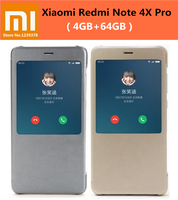 Phone Case For XIAOMI Redmi Note 4X Pro Cover 100 Original Smart View Flip Cover PC