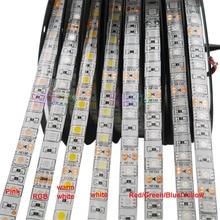 High quality 5M 5050 SMD Led Strip Light tape;60LEDs/m;White/Warm White/Red/Green/Yellow/Blue/Pink/RGB/UV/RGBW/RGBWW;DC12V