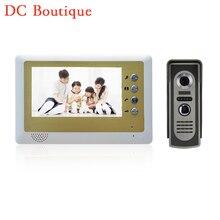 1 set) Smart Home Intercom system 7 inch one to one Door phone Video intercom Door bell talkback system access control release