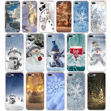 241H Animated Winter snowman snow Soft TPU Silicone Cover Case For