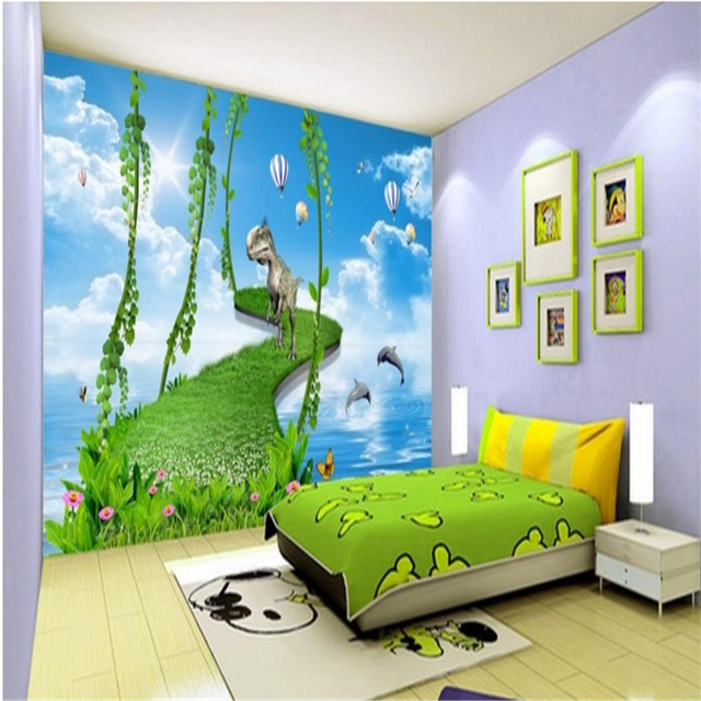 Beibehang Large Custom Wallpapers Children S Room Hy Paradise Living Bedroom Tv Backdrop