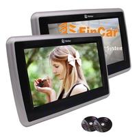 Eincar 9''Pair HD TFT LCD Digitale Schermen Dual Auto Hoofdsteun Draagbare Dvd-speler Touch Knop Ondersteuning Viedo Monitor met HDMI
