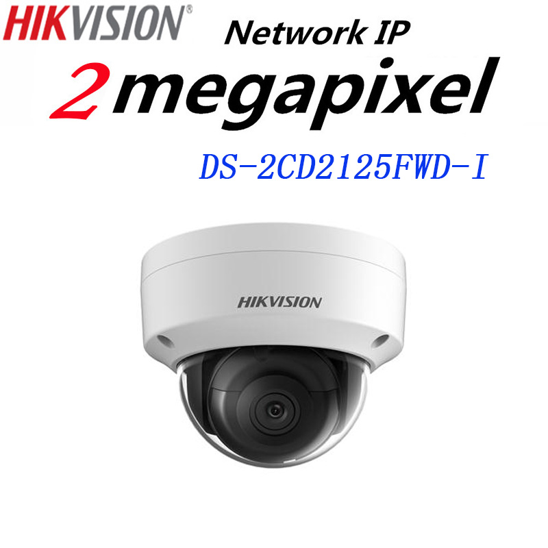 HiKvision H.265 IP Camera DS-2CD2125FWD-I 2MP Ultra-Low Light Network Dome Camera IP 67 On-Board Storage Support Upgrade free shipping english version ds 2cd2125fwd is 2mp ultra low light network dome camera poe cctv camera audio sd card h 265