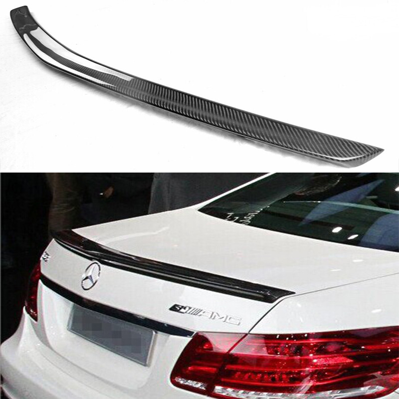 W212 E63 E-Class Carbon Fiber Car Rear Trunk lip spoiler wing for Mercedes Benz E63 E250 E350 2013-2016 yandex mercedes x156 bumper canards carbon fiber splitter lip for benz gla class x156 with amg package 2015 present