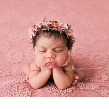 New 150x150cm Baby Photography Props Girl Lace Blanket Flokati Newborn Photo Background Cloth Accessories