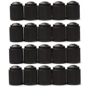 Image 1 - 20 יחידות פלסטיק אבק Valve Caps גלגל רכב אופניים בצור אוויר כובעי גזע שסתום צמיג אופנוע שסתום האוויר Caps אביזרי רכב שחור