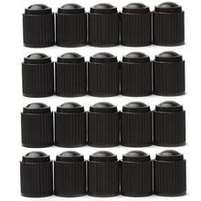 20 sztuk plastikowe nakrętki zaworu pyłu Bike Car opony wentyle zaworu powietrznego opona motocyklowa nakrętki zaworu powietrza akcesoria samochodowe czarny