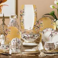 Dish set Dishware tableware Bone china tableware Jingdezhen Korean ceramics Nordic bowls enamel