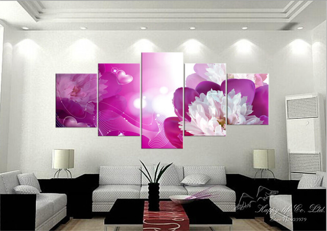 5Panel Modern Painting Home Decorative Art Picture Paint on Canvas ...