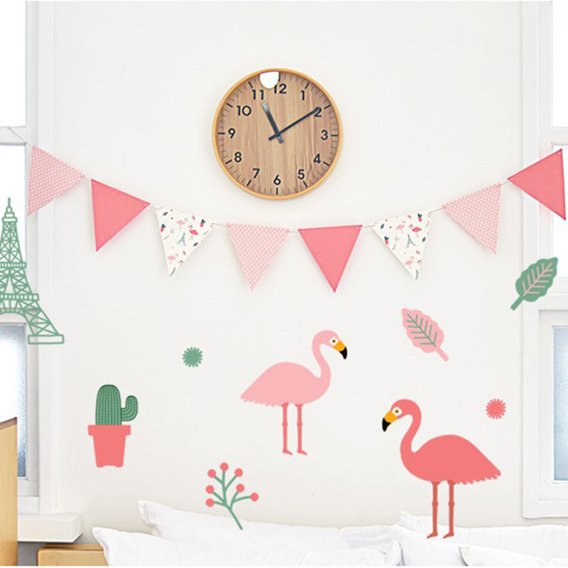 1Set Pink Cartoon Theme Paper Board Bunting Pennant Flags Banner Garland For Baby Shower Birthday Party Decoration INS Style ...