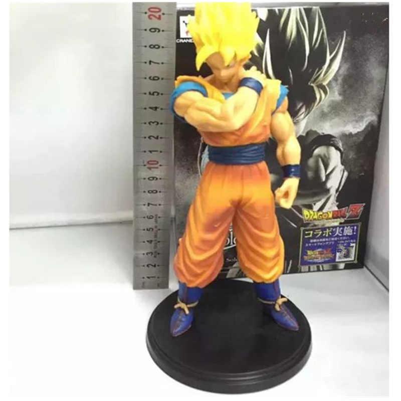 22 см Dragon Ball Z желтый волосы Сон Гоку игрушка фигурка аниме из ПВХ super Saiyan Goku модель фигурки украшение куклы дети подарок Z17