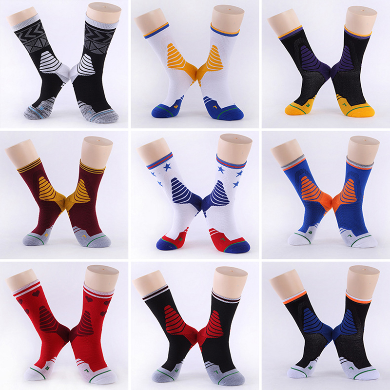 Professional Basketball Socks Outdoor Sport Ankle Anti-sprain Camping Hiking Cycling Skiing Men Stocking Thickening 1 Pair