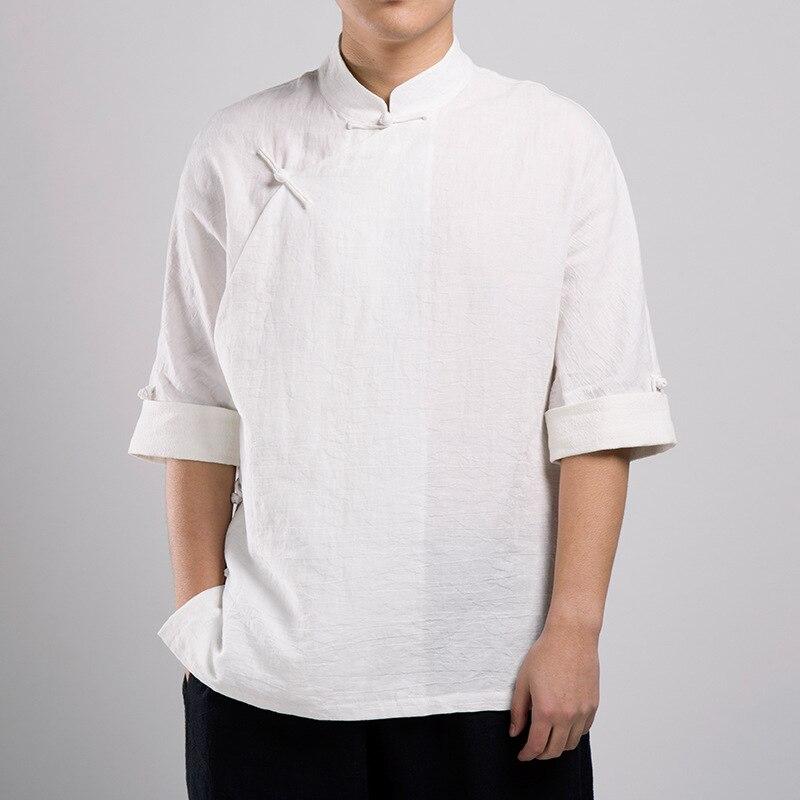 Bruce Lee Arts martiaux vêtements T-shirt Wing Chun Kung Fu chemise à manches courtes chemise classique uniforme Kung Fu coton chemise homme