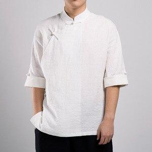 Bruce Lee sztuki walki odzież koszulka Wing Chun koszula Kung Fu koszula z krótkim rękawem klasyczna jednolita Kung Fu bawełniana koszula męska