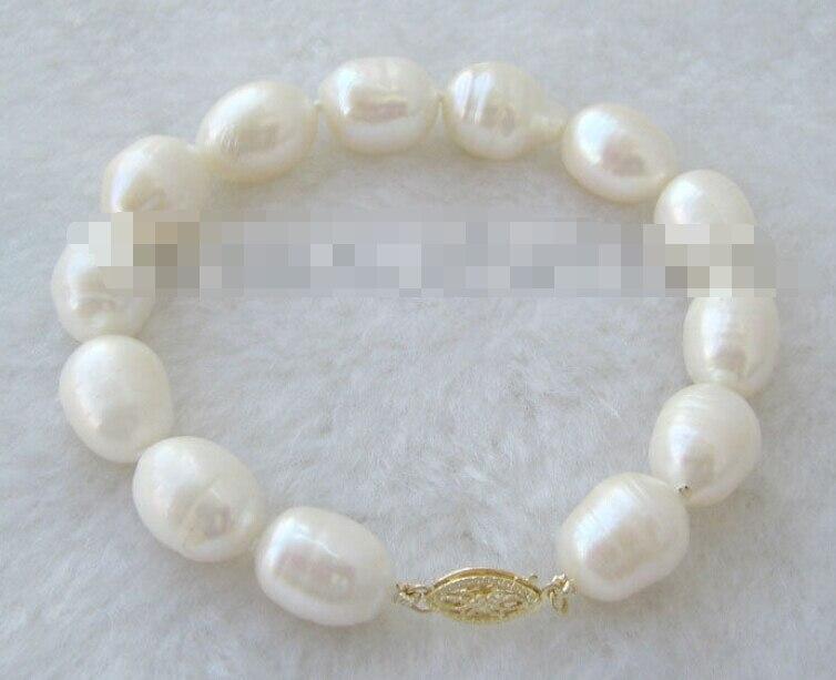 0747 white baroque freshwater pearl bracelet