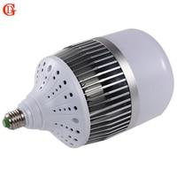 GD 30 W 50 W 80 W 100 W 150 W Żarówka Led E27 E40 Bazy Led Żarówka 220 V Aluminiowa Płyta Super Bright LED Highbay Lampa z Wentylatorem