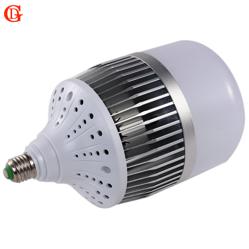 GD 30W 50W 80W 100W 150W LED Light Bulb E27 E40 Base LED Highbay Bulb 220V 230V LED Bulb Light Super Bright LED Bulb With Fan high bright 50w 100w 150w 2835 smd 50 100 150leds led lamp bulb e27 pure white led light bulb ac220v 110v 6500k for factory