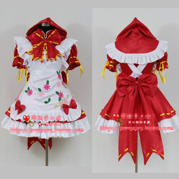 Miku PROJECT DIVA 2 Little Red Hat Uniforms Cosplay Costume Free Shipping