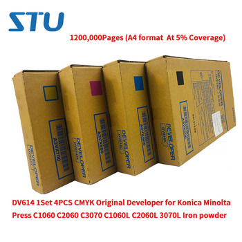 DV614 1200,000Pages 1Set 4PCS CMYK Original Developer for Konica Minolta Press C1060 C2060 C3070 C1060L C2060L 3070L Iron powder