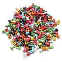 200x mini parisiense fixadores multicolorido parafusos rebites prego foto papel diy artesanato scrapbooking 4.5mm rebites sólidos ferramenta peças