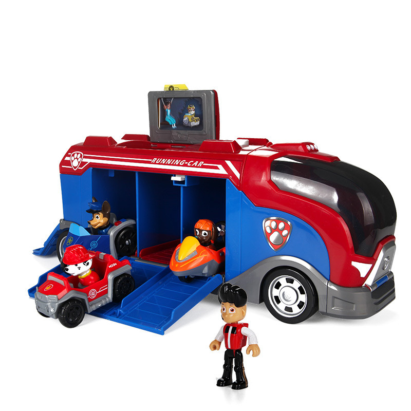 Patte de chien de Patrouille Coulissante équipe gros camion jouet musique rescue team Jouet Patrulla Canina Juguetes Figurines jouet cadeaux