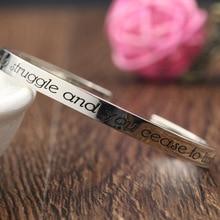 Charm Men Bangle font b Customized b font font b Engraving b font Statement Solid Silver