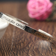 Charm Men Bangle Customized Engraving Statement Solid Silver Bracelet Personalized Wholesale