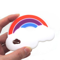 3pcs Food Grade Silicon Rainbow Baby Love Chewable Infant SGS Safe Eco Friendly Chunky 3 Color