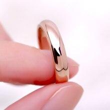 Knock alta qualidade simples redondo anéis masculinos feminino rosa cor de ouro anéis de casamento para o amante feminino moda jóias presente