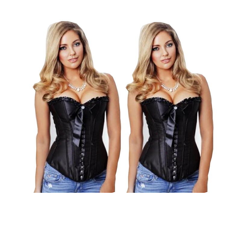cinta modeladora de corpo Overbust Pattern black friday Corset Corselet women style sexy Lace up with G-string woman
