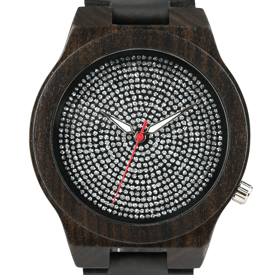 Top Luxury Mens Watch Retro Ebony Wood Watch Unique Diamond Dial Sports Quartz Women Writstwatch Genuine Leather Valentine Gifts 2020 (5)
