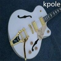 Boby Kpole Guitarras Gretsch white falcon guitarra jazz semi oco guitarra elétrica