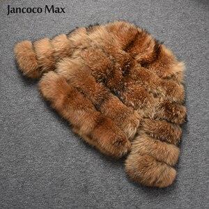Image 5 - Fashion Style Fur Jacket Womens Real Raccoon Fur Coat Winter Keep Warm Luxury Outerwear S7375