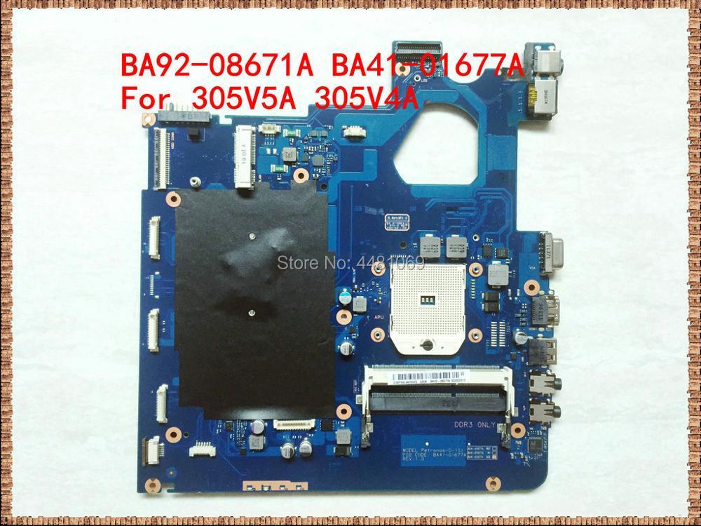 BA41-01677A For Samsung NP305V5A Motherboard BA92-08671A  BA92-08671B DDR3  For SAMSUNG 305V5A 305V4A Laptop Motherboard