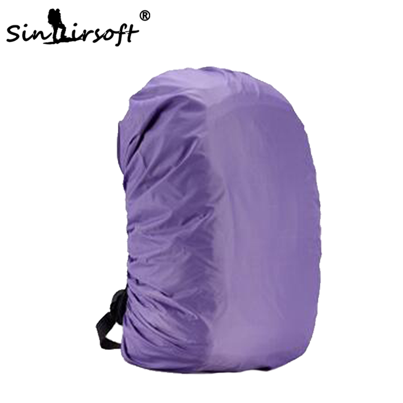 Outdoor Hiking Waterproof Rain Cover Backpack Luggage Bag Raincoat Suit For 20L 30L 35L 40L 50L 60L Purple
