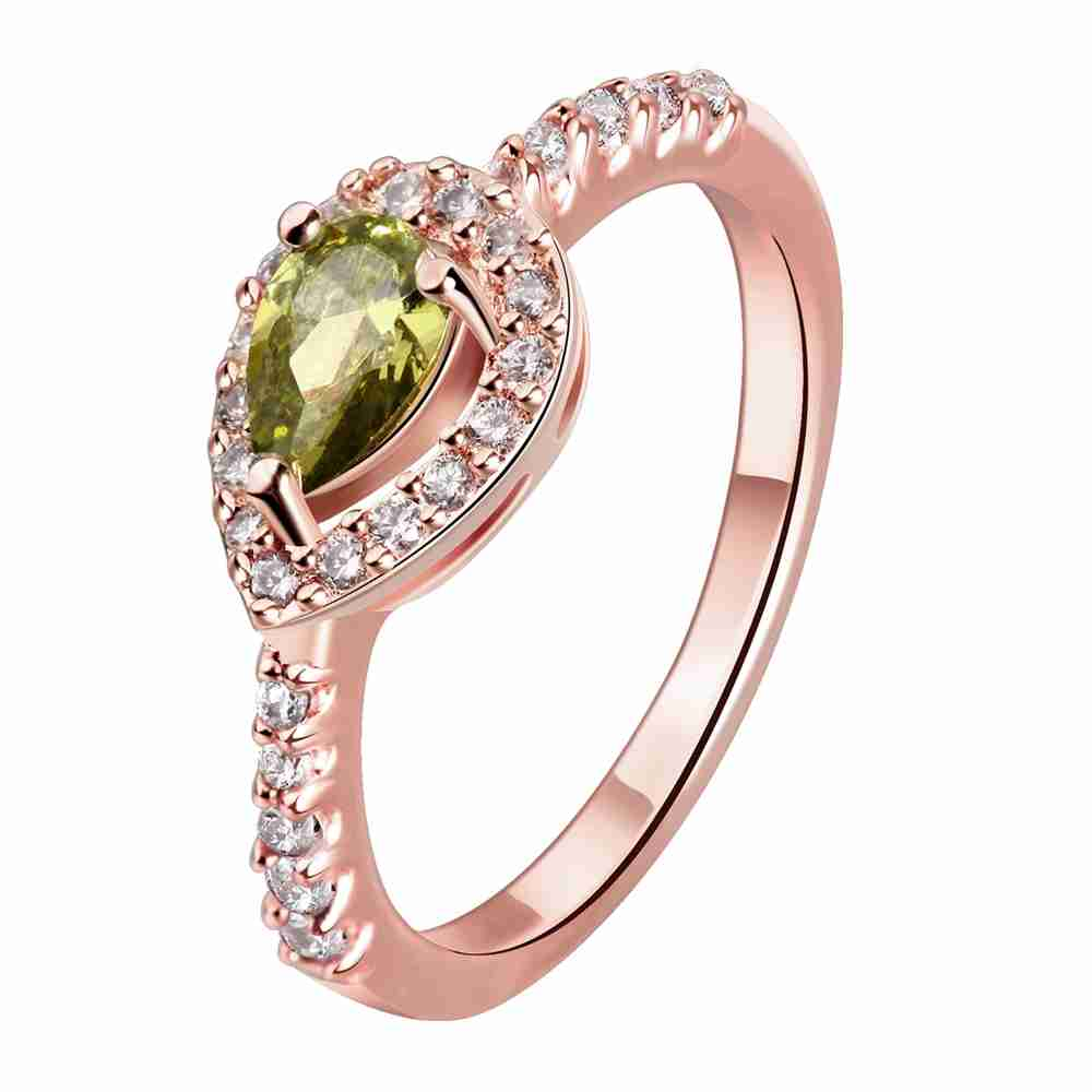 Free Shipping Aliexpress Women Jewelry Gold Plating Engagement Rings Heart  Is Connected Opal Costume Jewellery Hbr188