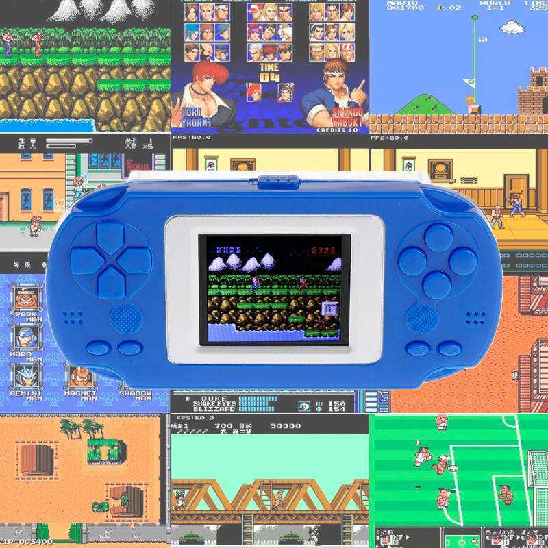 קונסולת משחק מחשב כף יד נגן צבע מסך 268 ב 1 נייד 8 קצת