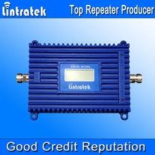 Lintratek nuevo pantalla lcd repetidor repetidor 3g 2100 mhz 3g amplificador de señal UMTS amplificador de 70dB de Ganancia AGC 2100 Amplificador Amplificador de Señal UMTS @