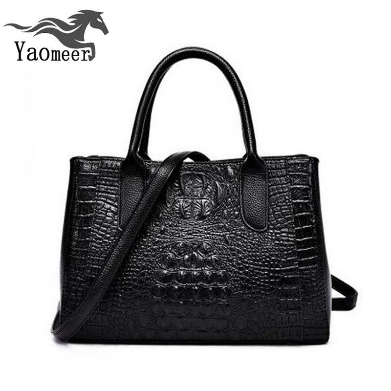 ФОТО luxury pu crocodile bags women's shoulder bag designer handbags high quality crossbody women bags female bag famous brand totes