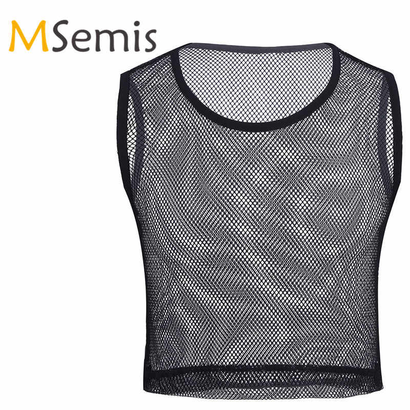 14038929 Detail Feedback Questions about MSemis Summer Men Black Sleeveless Fishnet  See through Mesh Muscle T Shirt O neck Slim Fit Breathable T Shirt Club  Party ...