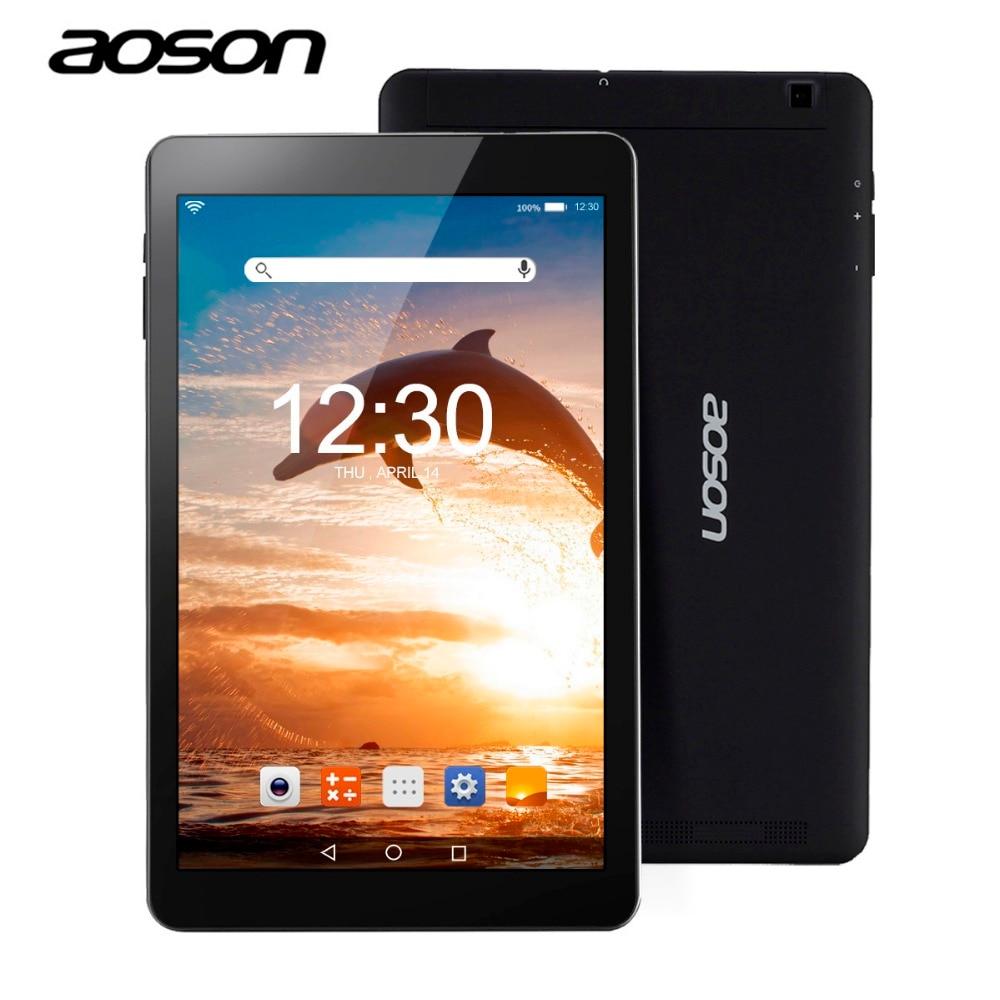 Aoson R101 tablet 10.1 inch Android 6.0 Tablet PC Quad Core 2GB+16GB RAM MTK 8163 800*1280 IPS 5000 mAh GPS WIFI Phablet цена
