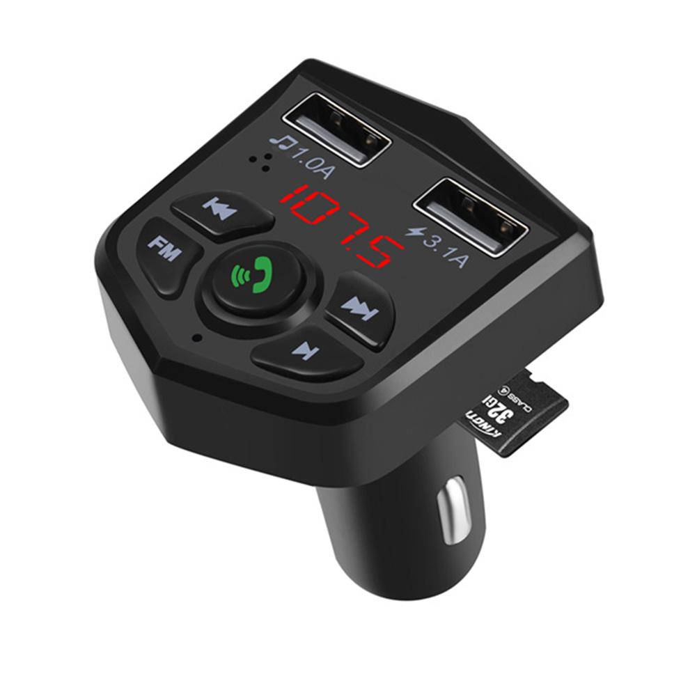 Car Kit Handsfree Wireless <font><b>Bluetooth</b></font> <font><b>FM</b></font> <font><b>Transmitter</b></font> <font><b>LCD</b></font> <font><b>MP3</b></font> <font><b>Player</b></font> Dual USB Charger 2.1A Car Accessories For Android Or IPhone image