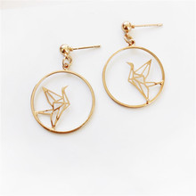 Original design fashion girl temperament feeling drop earrings hollow out art wholesale popular