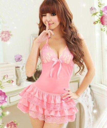 New Hot Lady Sexy Mini Skirt Sleepwear Babydoll Lingerie Lace DRESS Night Nightgown Pajamas