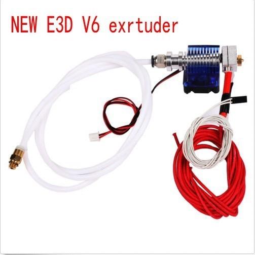 E3D-V6 Hot End Full Kit - 1.75mm 12V Bowden/RepRap 3d printer extruder parts accessories  e3d v6 print head nozzle free shipping