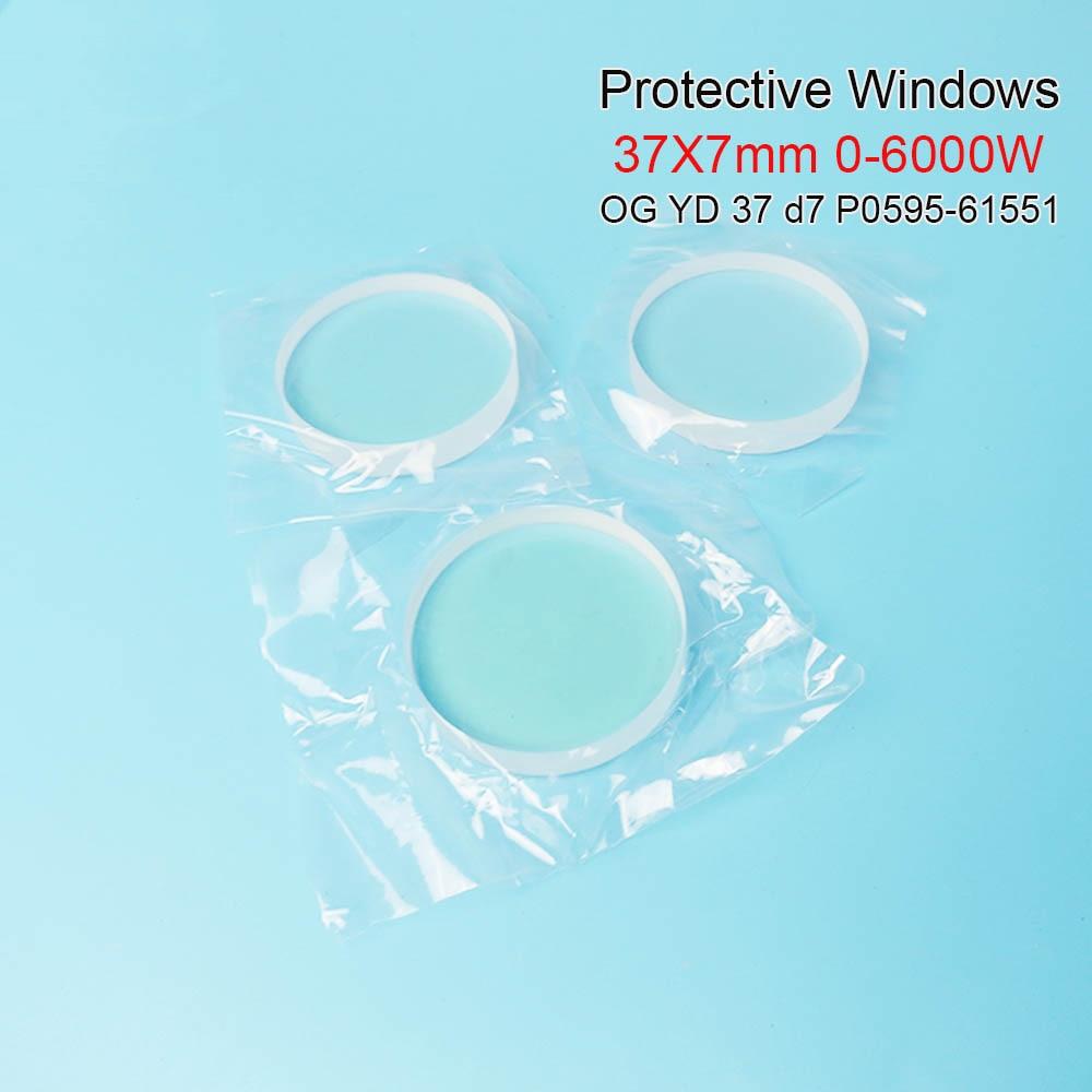 Janelas de proteção e Precitec laser de fibra cerâmica OG YD37 37 d7 * 7mm P0595-58601 0-6000 W para precitec Procutter cabeça Ermaksan