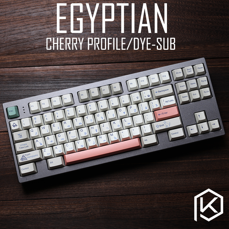 Egyptian 9009 colorway cherry profile Dye Sub <font><b>Keycap</b></font> Set thick PBT plastic keyboard gh60 xd60 xd84 <font><b>tada68</b></font> rs96 zz96 87 104 660 image