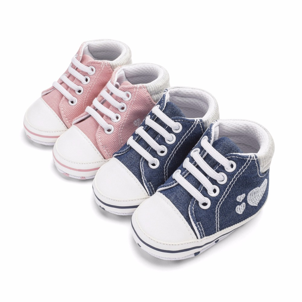 Classic Casual Baby Girls Shoes Infant Toddler Newborn Print Love Baby For Girls Boys Spring First Walkers Sneakers Shoes