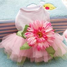 Charming, adorable flower-adorned dog dress